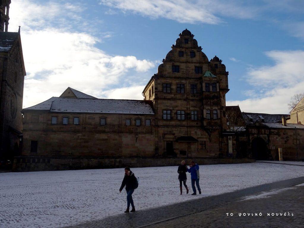 Κτίριο γοτθικού ρυθμού στο Μπάμπεργκ της Γερμανίας / Gothic style building in Bamberg, Germany