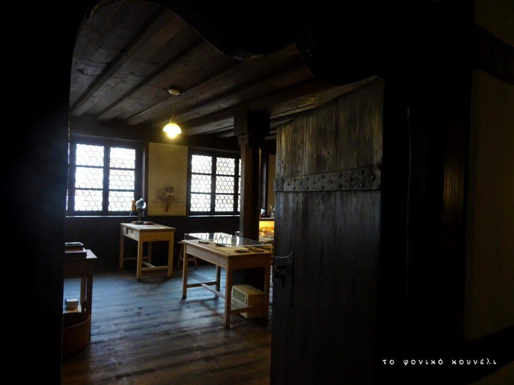Αίθουσα στο σπίτι του Άλμπρεχτ Ντύρερ στη Γερμανία / Room inside Albrecht Dürer's house in Nuremberg, Germany