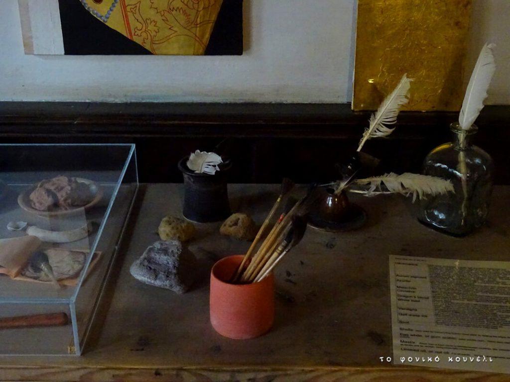 Πινέλα και είδη ζωγραφικής στο σπίτι του Άλμπρεχτ Ντύρερ στη Νυρεμβέργη / Painting tools in Albrecht Dürer's lab in Nuremberg, Germany