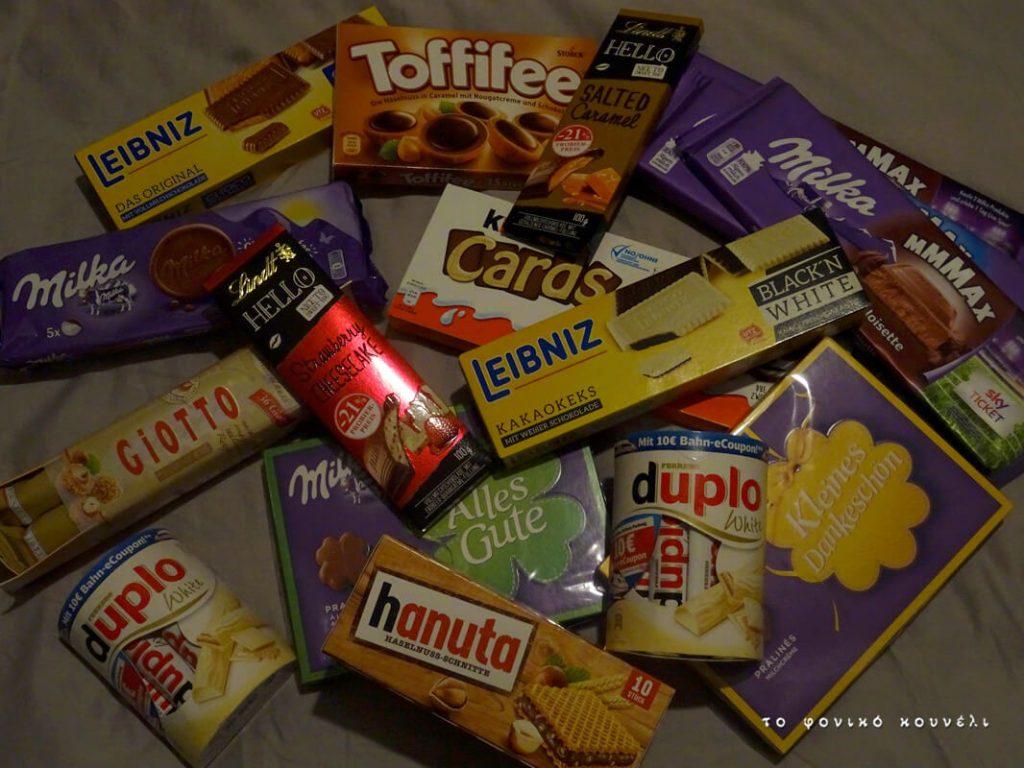 Σοκολάτες από κατάστημα στη Γερμανία / Chocolates in Germany