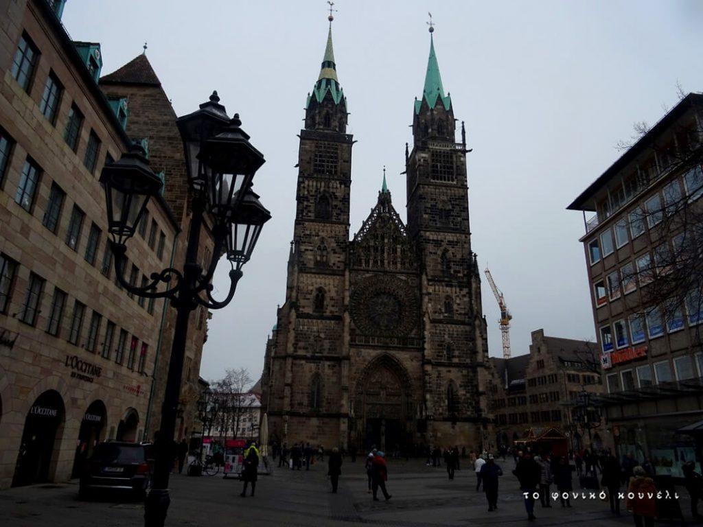 Ο καθεδρικός Άγιος Λαυρέντιος, γοτθική εκκλησία στη Νυρεμβέργη / St Lorenz cathedral in Nuremberg