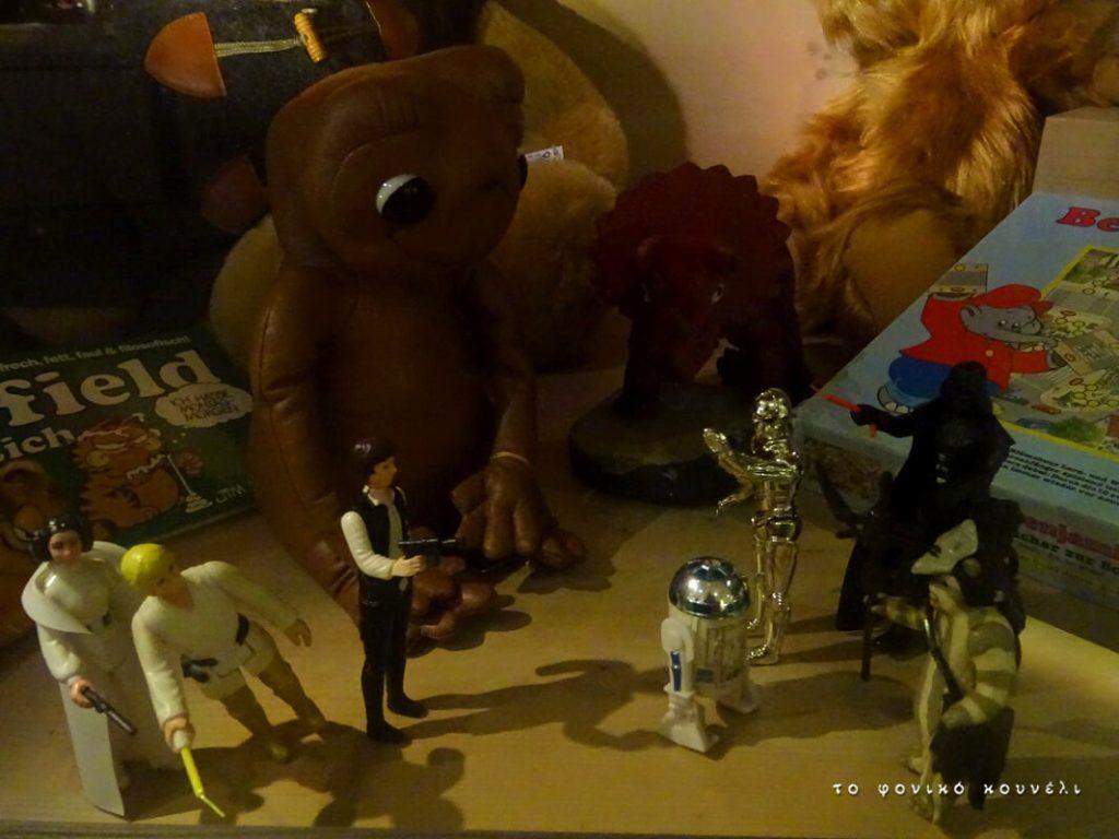 Παιχνίδια με φιγούρες από τον Πόλεμο των Άστρων, τον Εξωγήινο, κλπ / 80's games with film figures