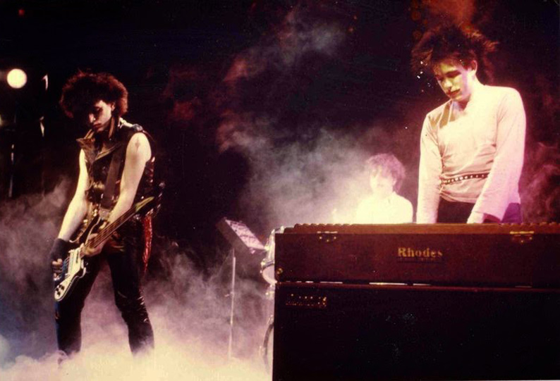 The Cure live in Belgium, 1982, during the Pornography tour