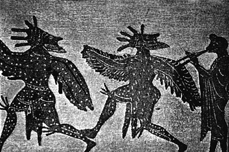 Οι Όρνιθες του Αριστοφάνη σε αρχαίο αγγείο / The Birds, by Aristophanes