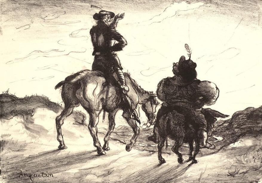 Εικονογράφηση του Louis Anquetin για τον Δον Κιχώτη, 1890 / Don Quixote illustration by Louis Anquetin, 1890