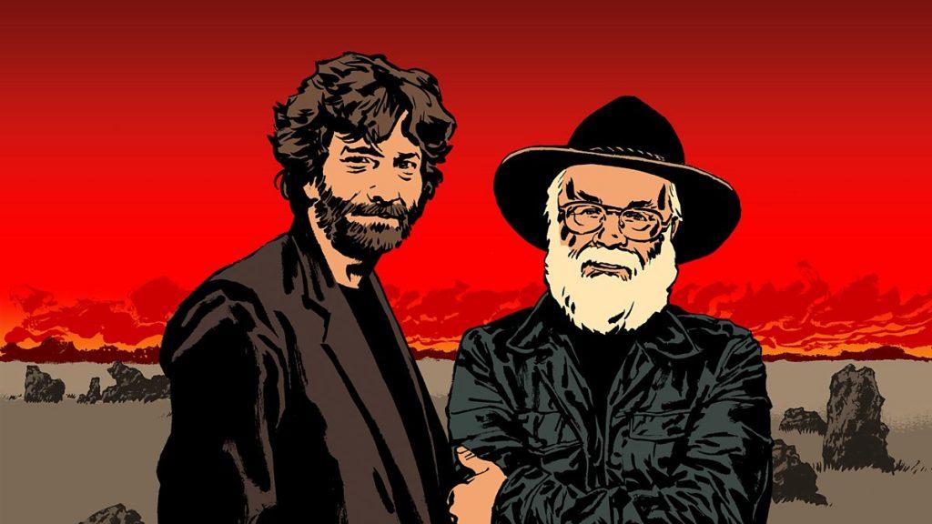 Νιλ Γκέιμαν και Τέρι Πράτσετ, εικονογράφηση για το βιβλίο Καλοί Οιωνοί / Neil Gaiman and Terry Pratchett drawing