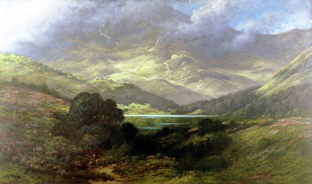 Scottish Highlands, πίνακας του Gustave Doré / Scottish Highlands, by Gustave Doré