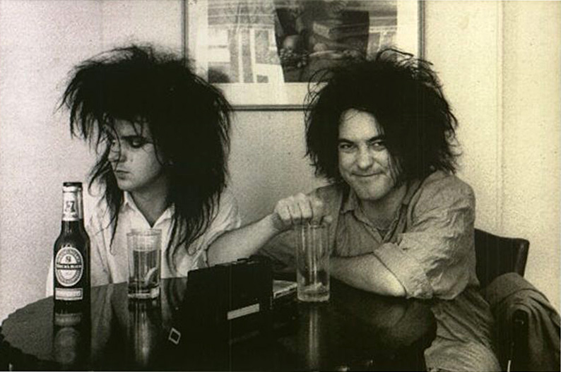 Robert Smith and Simon Gallup