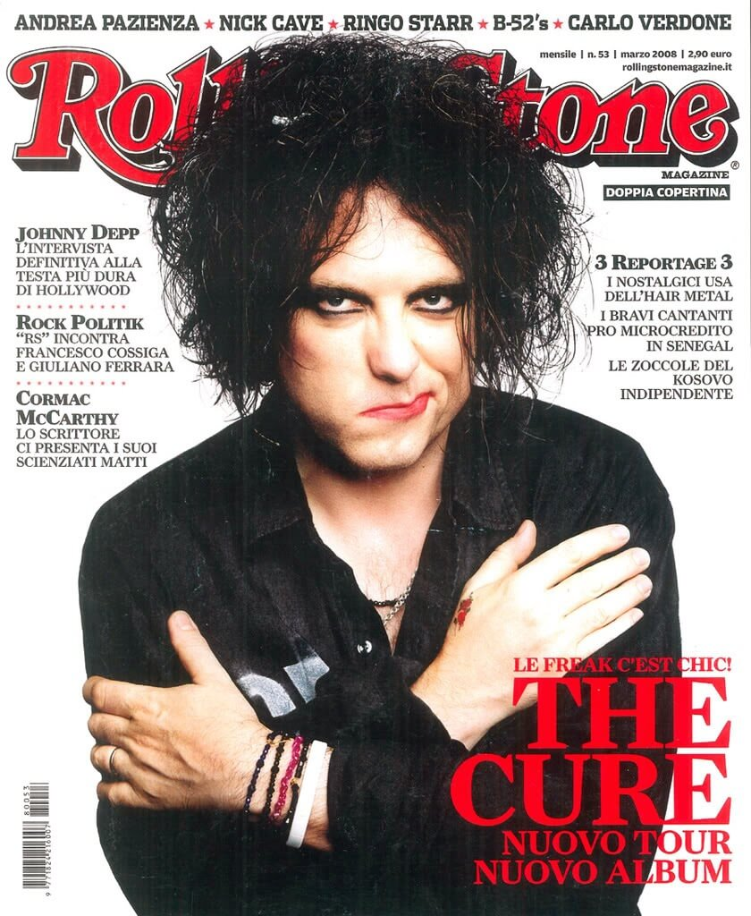 Robert Smith on the cover of Rolling Stone magazine