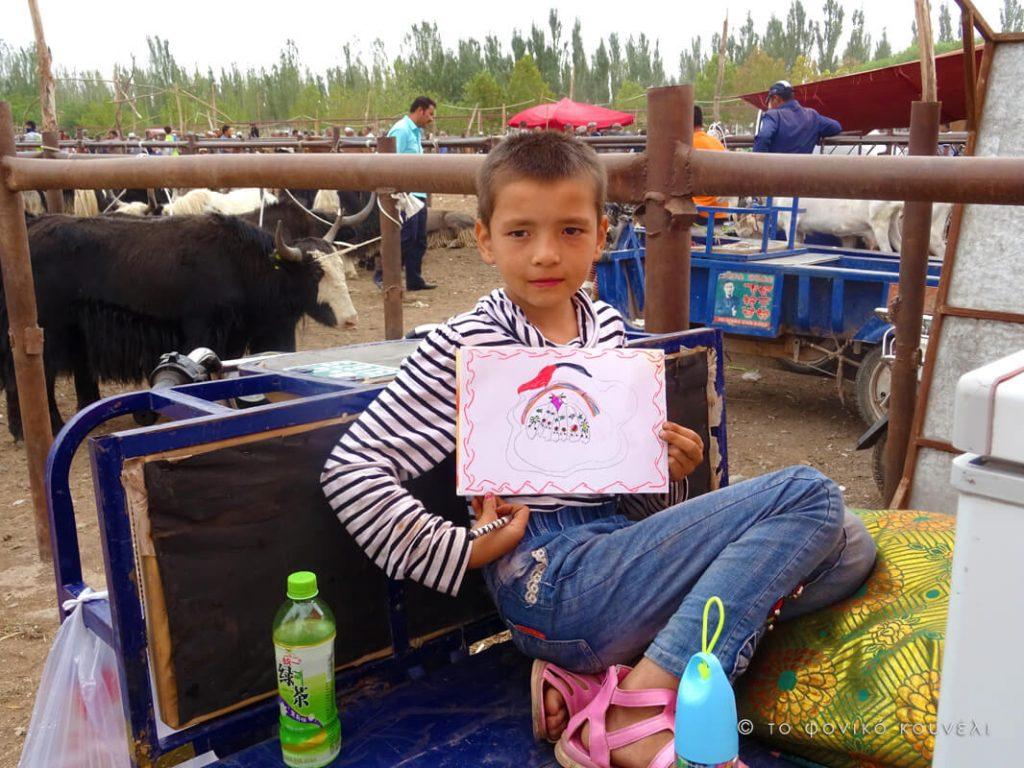 Κίνα, στο δρόμο του μεταξιού... στο παζάρι ζώων του Κασγκάρ / China, on the Silk Road