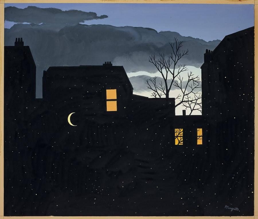 La bonne aventure, painting by René Magritte