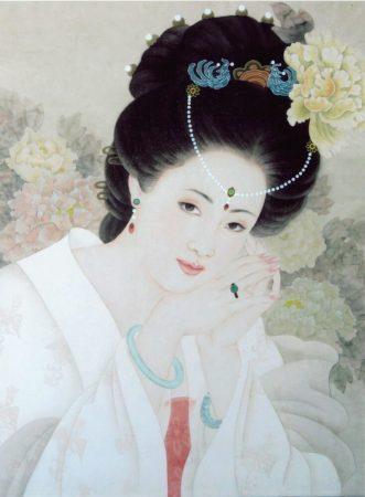 Yang Guifei portrait - Γιανγκ Γκουιφέι. Μια από τις ομορφότερες γυναίκες της Κίνας