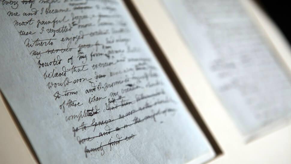 Από το αυθεντικό χειρόγραφο του Φρανκενστάιν της Μαίρης Σέλλεϋ / Frankenstein original manuscript