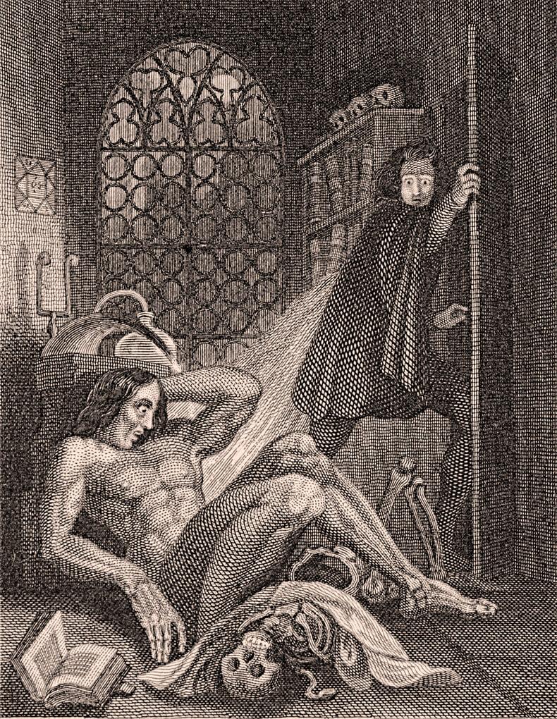 Εικονογράφηση από την πρώτη έκδοση του Φρανκενστάιν, 1831 / Frankenstein illustration, 1831