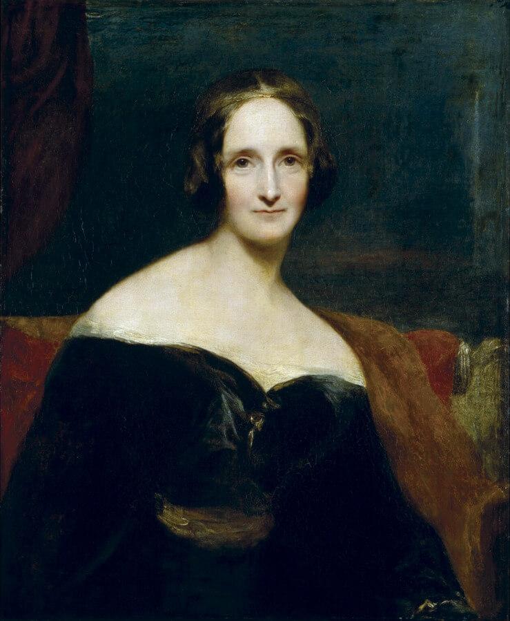 Πορτραίτο της Μαίρης Σέλλεϋ από τον Richard Rothwell, 1840-41 / Mary Shelley portrait by Richard Rothwell, 1840-41