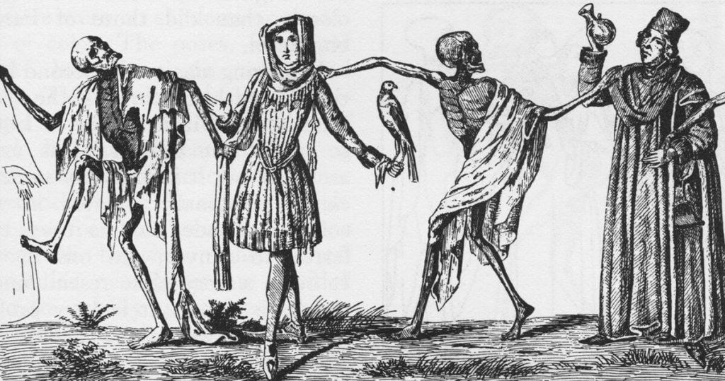 Ο Χορός του Θανάτου, μεσαιωνική γκραβούρα / Dance of Death, medieval gravure