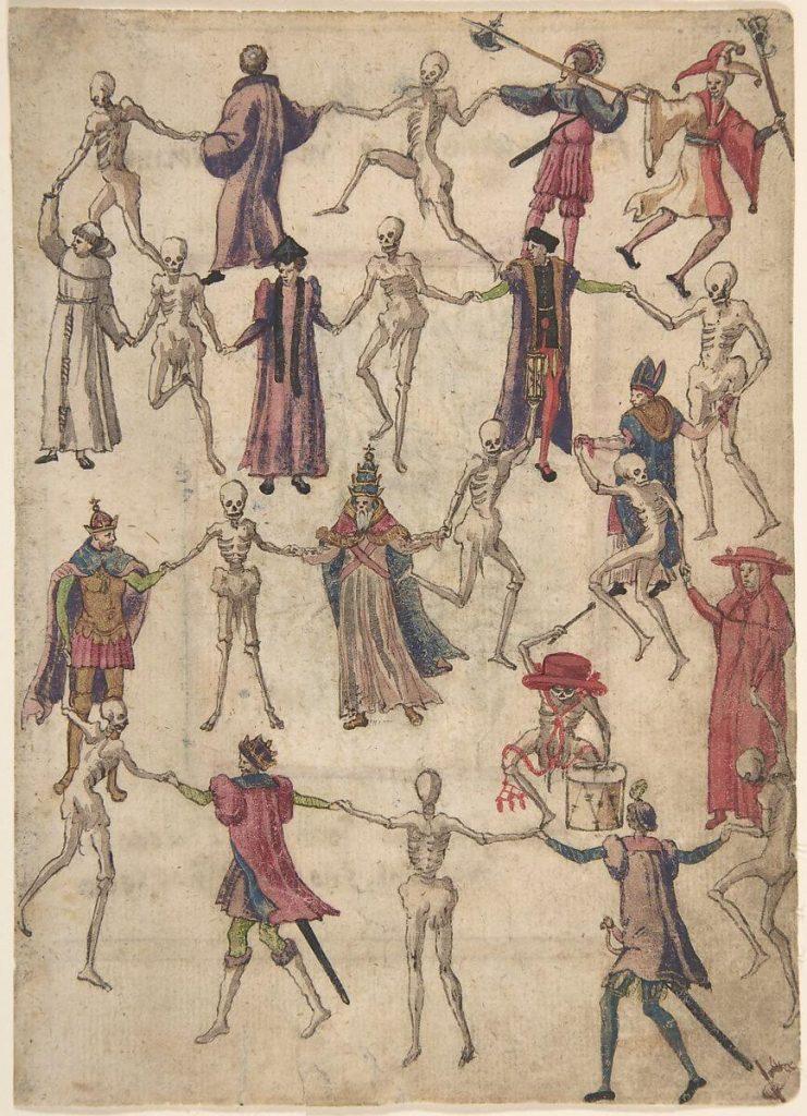 Ο Χορός του Θανάτου, άγνωστου εικονογράφου, 16ος αιώνας / The Dance of Death, unknown illustrator, 16th century