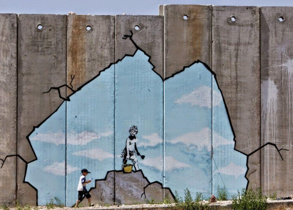Street art by Banksy - escape