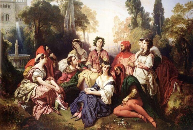 Πίνακας για το Δεκαήμερο του Βοκάκιο από τον Franz Xaver Winterhalter / Franz Xaver Winterhalter, Decameron