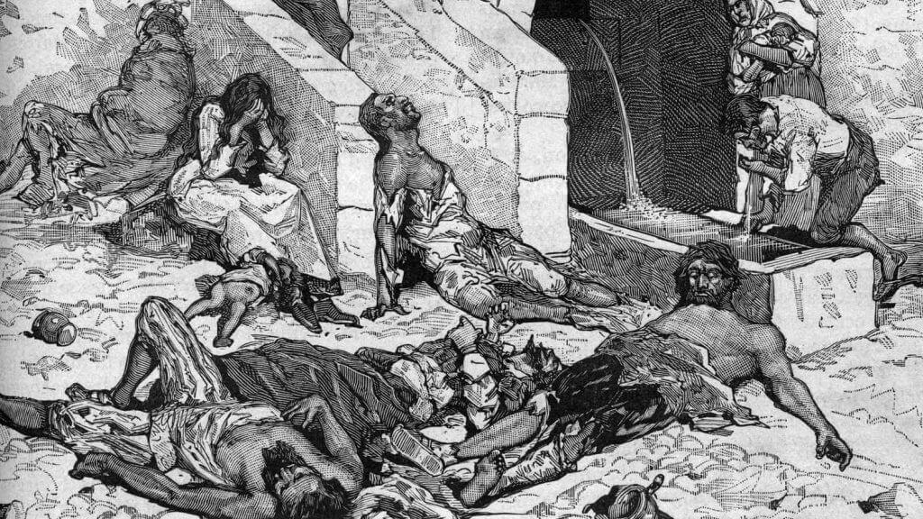 Σκηνές από την Πανούκλα του Μεσαίωνα / Black Death in the Middle Ages