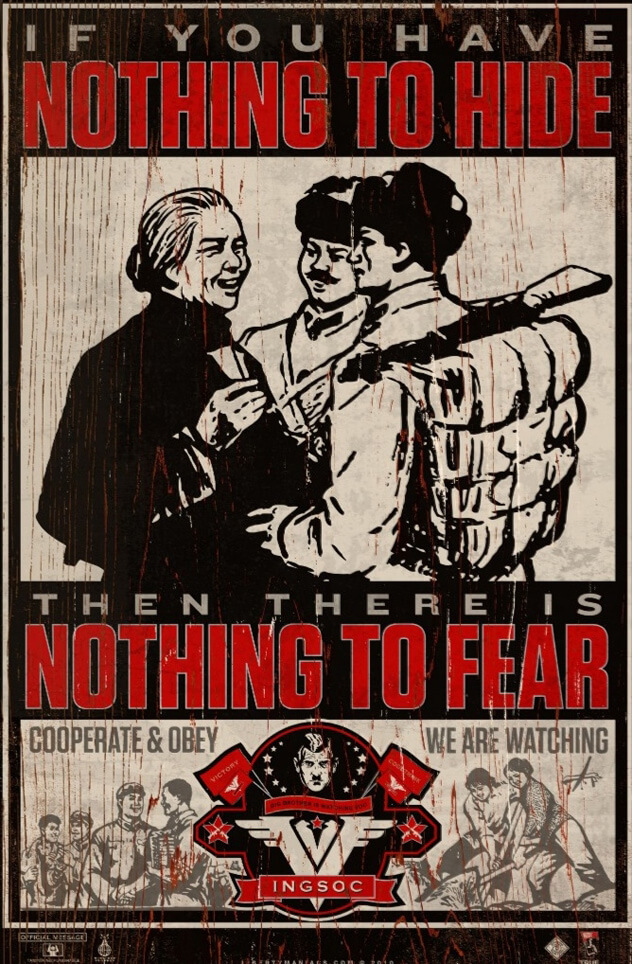 1984 Nothing to Hide poster by Libertymaniacs