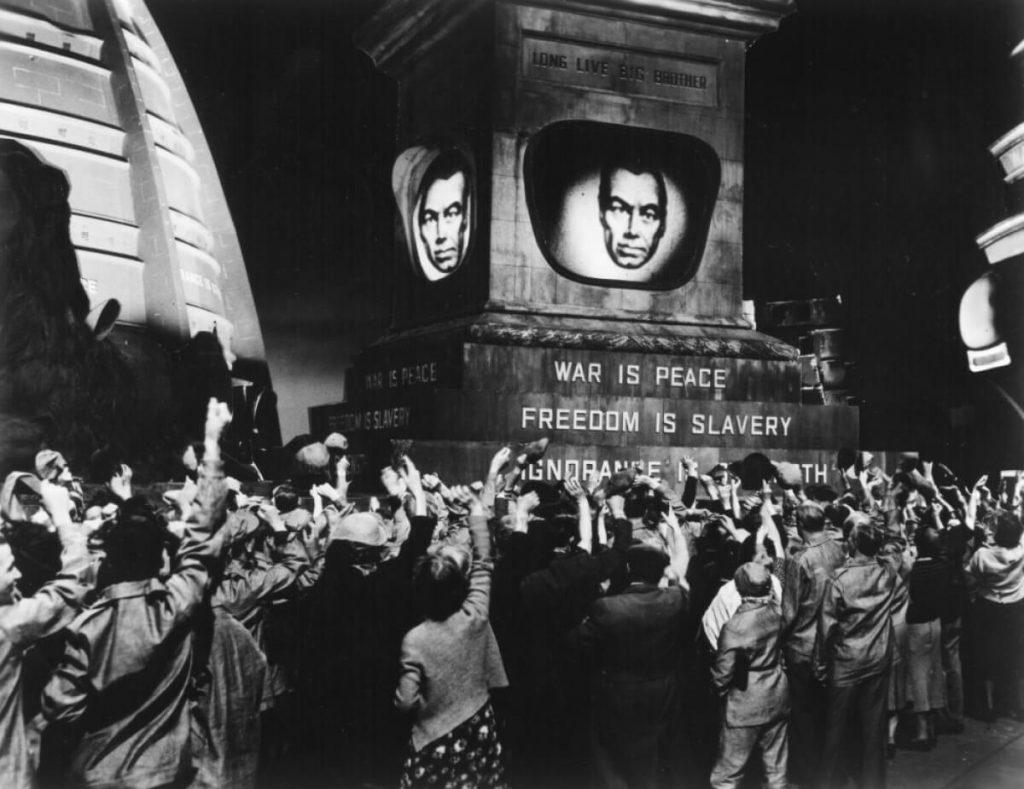 Σκηνή από το 1984 - Ο Μεγάλος Αδερφός, κινηματογραφική μεταφορά του βιβλίου του Όργουελ / A scene from 1984 film