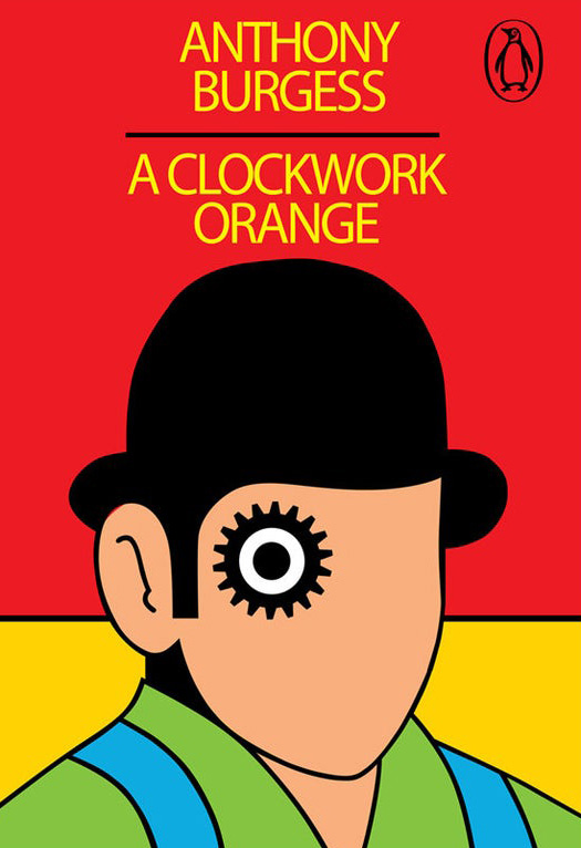 A Clockwork Orange, by Anthony Burgess book cover / Το Κουρδιστό Πορτοκάλι, εξώφυλλο του βιβλίου