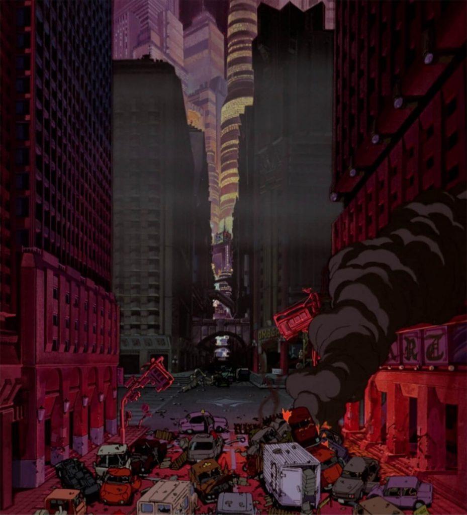 Σκηνή καταστροφής στο Ακίρα / City destruction in Akira anime