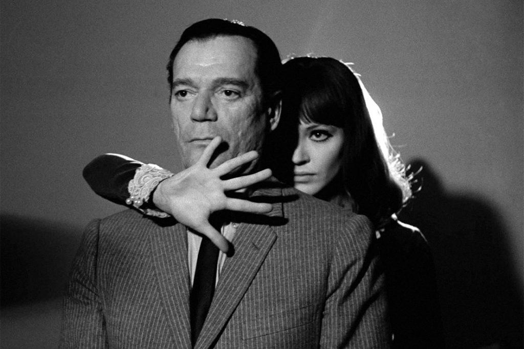 Οι πρωταγωνιστές του Alphaville του Jean-Luc Godard