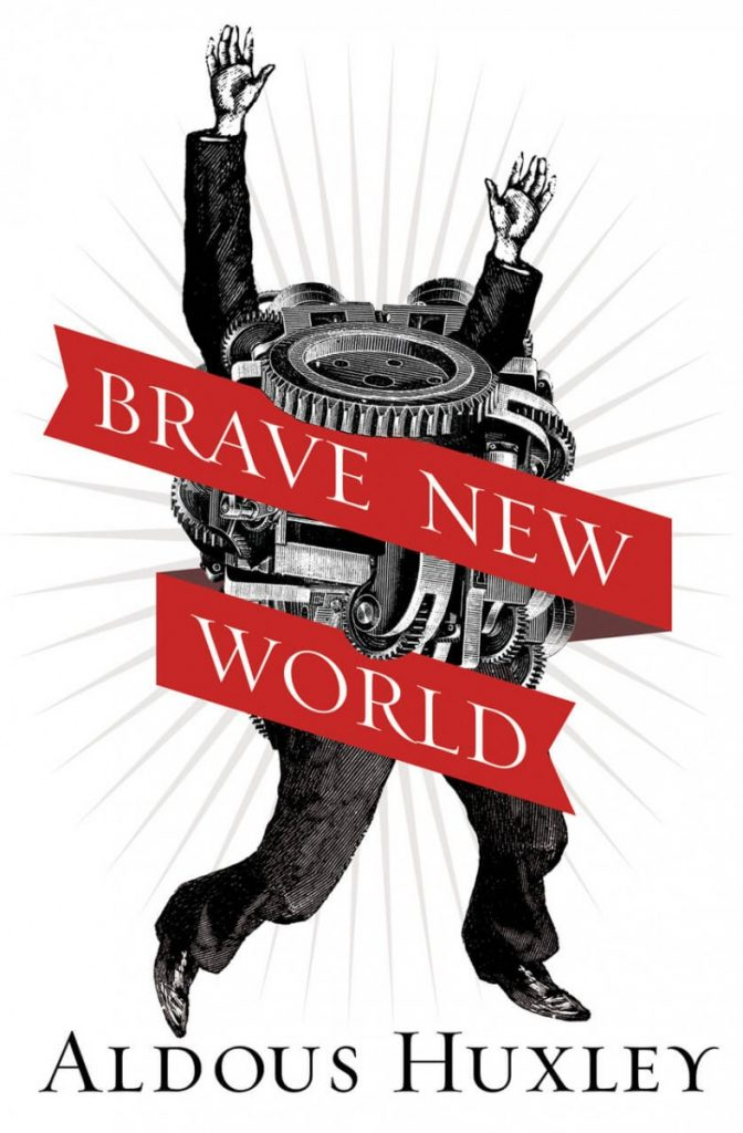 Brave New World by Aldous Huxley book cover / Εξώφυλλο για τον Θαυμαστό Καινούργιο Κόσμο
