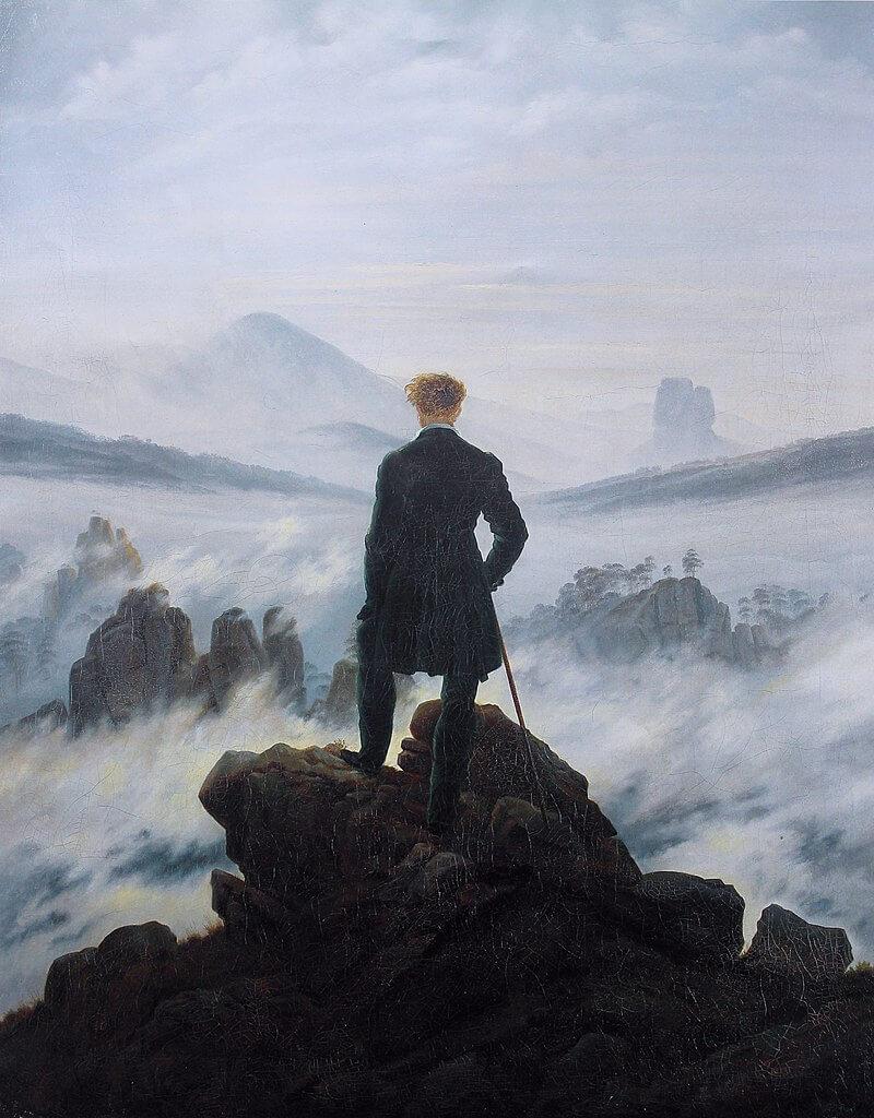 Περιπλανώμενος πάνω από τη θάλασσα της ομίχλης - πίνακας του Κάσπαρ Ντάβιντ Φρίντριχ / Caspar David Friedrich - Wanderer above the sea of fog