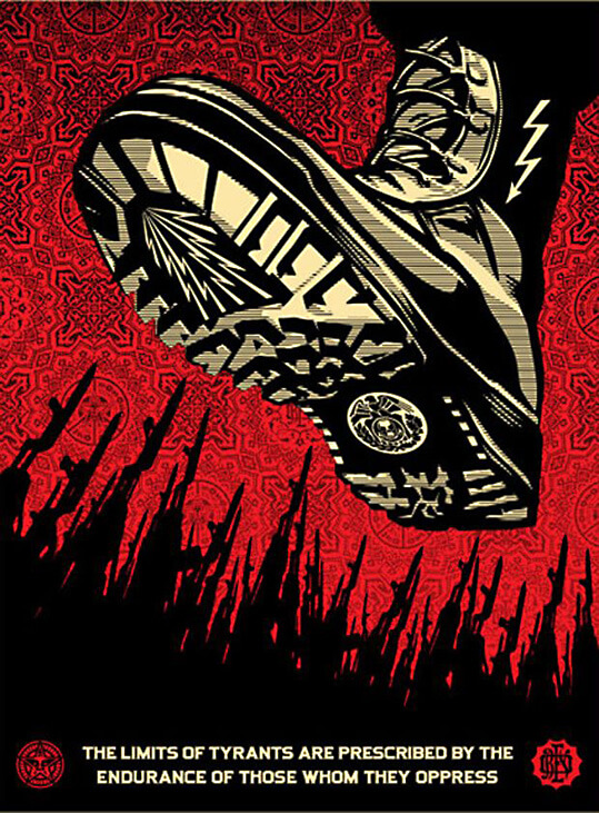 The Iron Heel by Jack London, art by Shepard Fairey / Αφίσα για τη Σιδερένια Φτέρνα του Τζακ Λόντον