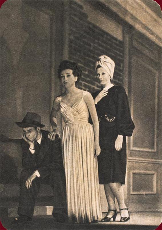 Σκηνή από την παράσταση Κεκλεισμένων των Θυρών του Ζαν-Πολ Σαρτρ το 1944 / Jean-Paul Sartre's No Exit play, 1944 / Huis Clos, 1944