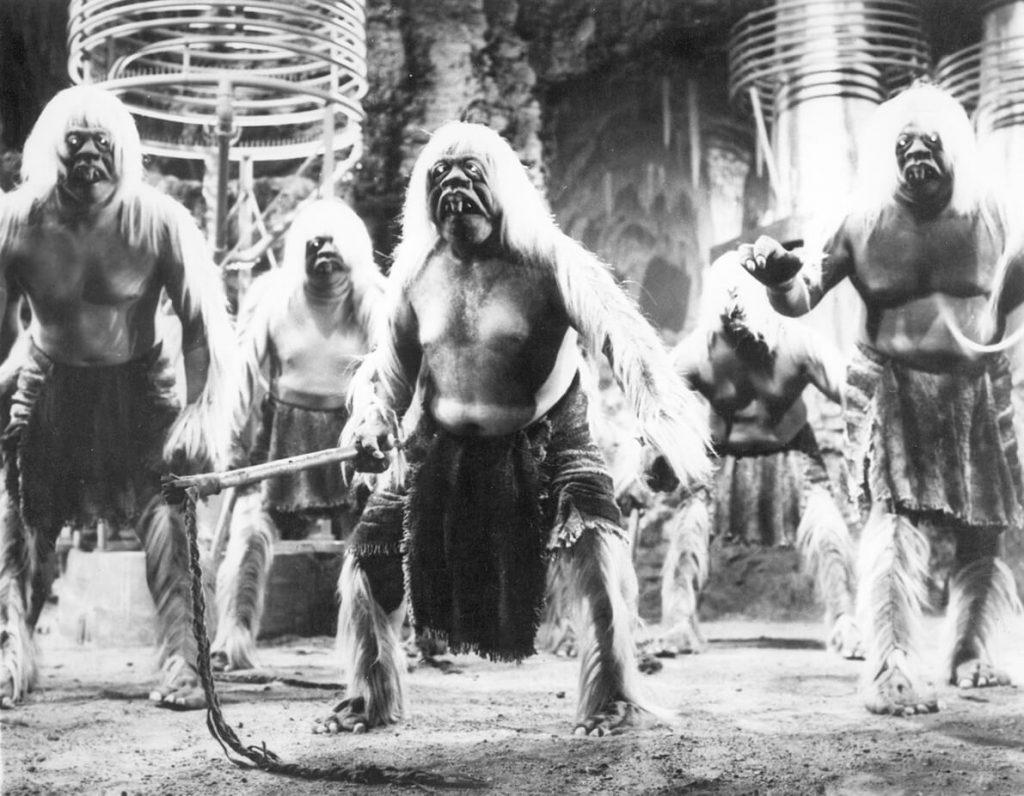 Οι Μόρλοκ στην κινηματογραφική μεταφορά της Μηχανής του Χρόνου του Ουέλς / Morlocks in The Time Machine film adaptation