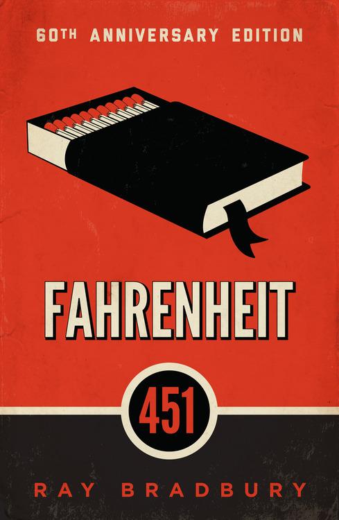 Fahrenheit 451 by Ray Bradbury / Εξώφυλλο του Φαρενάιτ 451