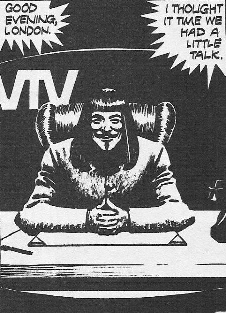 Εικόνα από το V For Vendetta του Άλαν Μουρ / Panel from V For Vendetta by Alan Moore