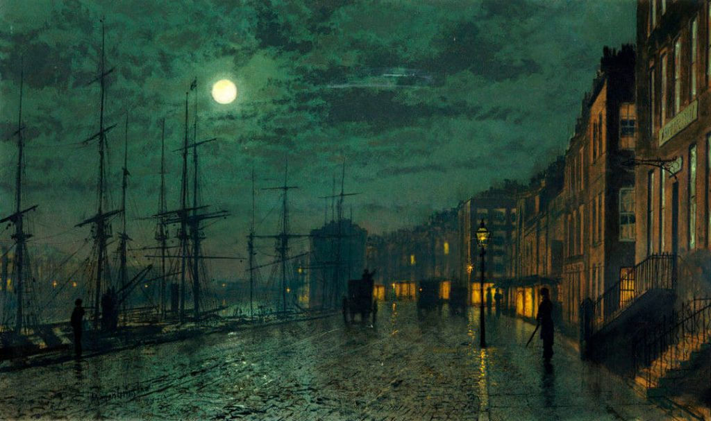 Prince's Dock, painting by John Atkinson Grimshaw
