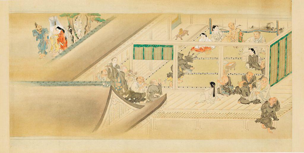 Essays in Idleness [Tsurezure-gusa] illustration, by Kaiho Yusetsu / Εικονογράφηση για τα Δοκίμια της Οκνηρίας, Ιαπωνία, 17ος αιώνας